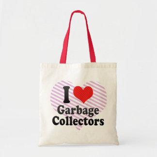 I Love Garbage Collectors Canvas Bag