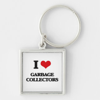 I love Garbage Collectors Key Chains
