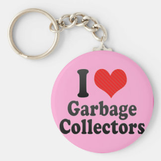 I Love Garbage Collectors Key Chain