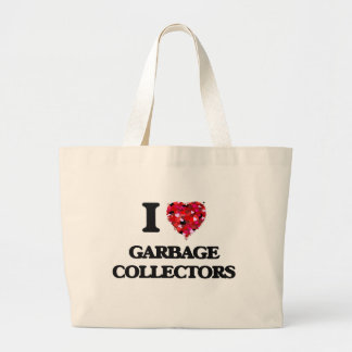 I love Garbage Collectors Jumbo Tote Bag