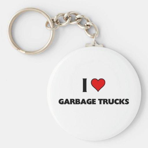 I love garbage trucks keychains