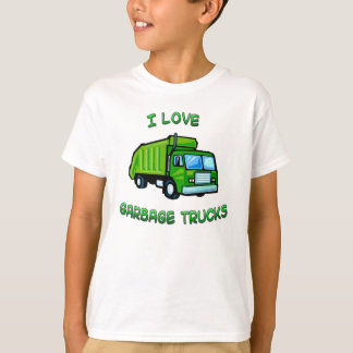 I Love Garbage Trucks Kids Infant Shirt