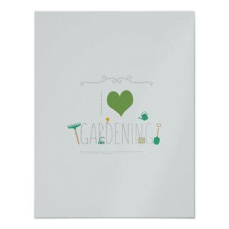 I love gardening 11 cm x 14 cm invitation card
