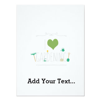 I love gardening 17 cm x 22 cm invitation card