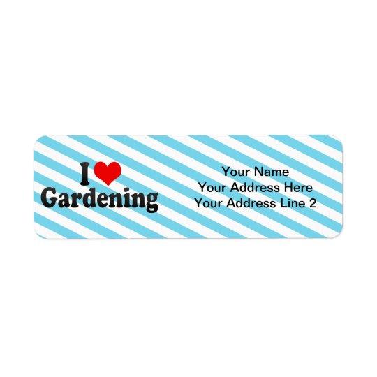 I Love Gardening Return Address Label