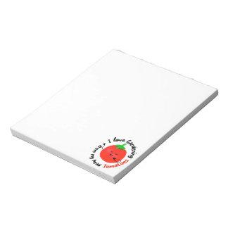 I Love Gardening Tomatoes - Notepad