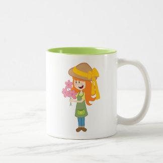 I Love Gardening Two Toned Mug