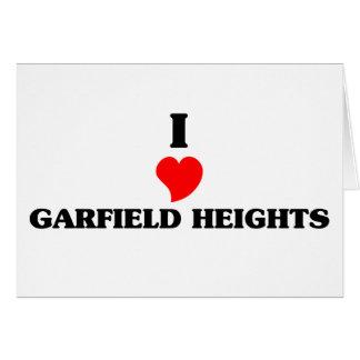 I love Garfield Greeting Card