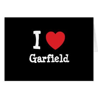 I love Garfield heart custom personalized Greeting Card