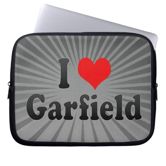I Love Garfield, United States Laptop Sleeve