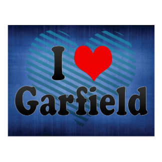 I Love Garfield, United States Postcards