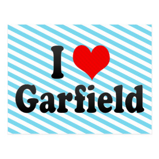 I Love Garfield, United States Post Card