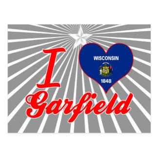 I Love Garfield, Wisconsin Post Card