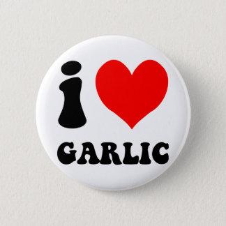 i love garlic 6 cm round badge