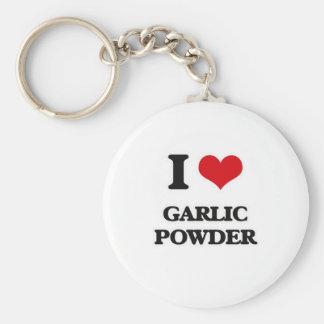 I Love Garlic Powder Key Ring