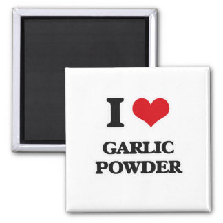 I Love Garlic Powder Magnet