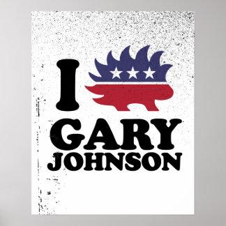 I Love Gary Johnson - Libertarian - -  Poster