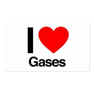 i love gases business card