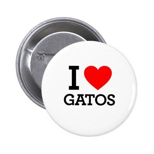 I Love Gatos Buttons