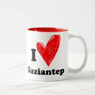 I love Gaziantep Two-Tone Coffee Mug