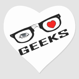 I Love Geeks Heart Sticker