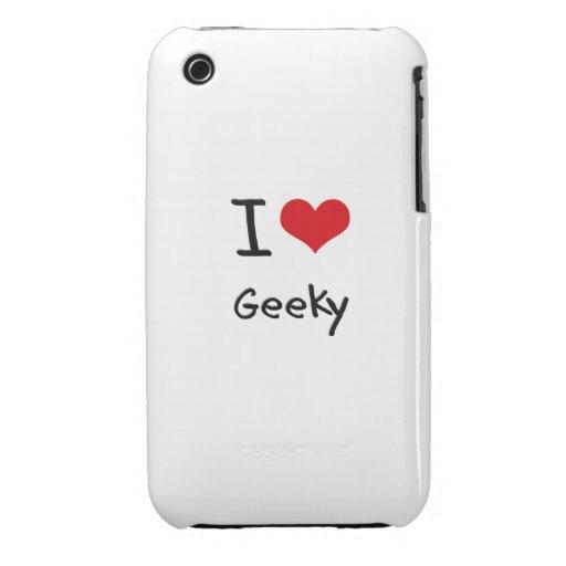 I Love Geeky iPhone 3 Case-Mate Case