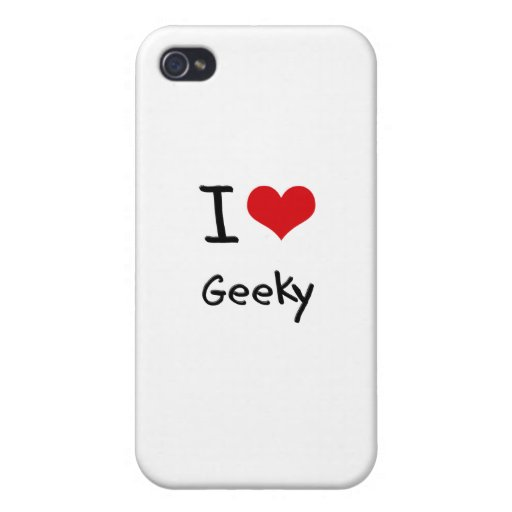 I Love Geeky iPhone 4 Cover