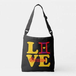 ♊★😍I Love Gemini-Best-Zodiac Sign All-Over-Print Crossbody Bag