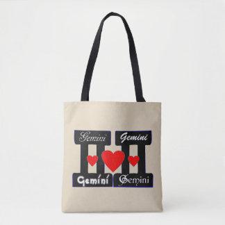 ♊★😍I Love Gemini-Best-Zodiac Sign All-Over-Print Tote Bag