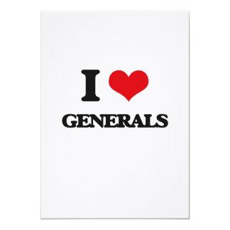 I love Generals 13 Cm X 18 Cm Invitation Card