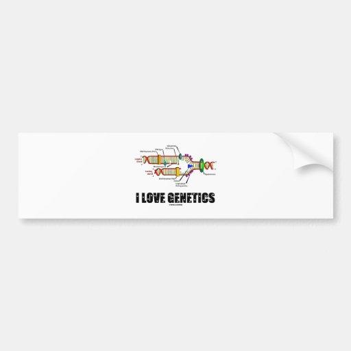 I Love Genetics (DNA Replication) Bumper Sticker