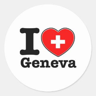 I love Geneva Classic Round Sticker
