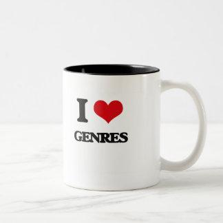 I love Genres Coffee Mugs