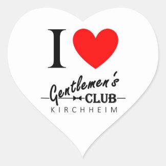 "I love Gentlemen's Club Heart Sticker ""Kirchheim"""