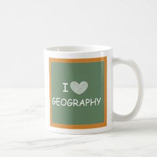 I Love Geography Basic White Mug