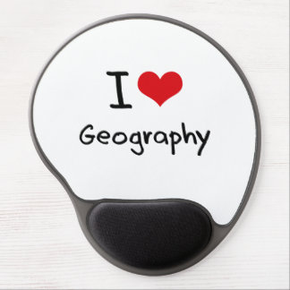 I Love Geography Gel Mouse Pad