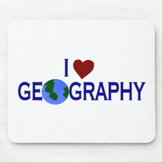 I Love Geography Mouse Pad