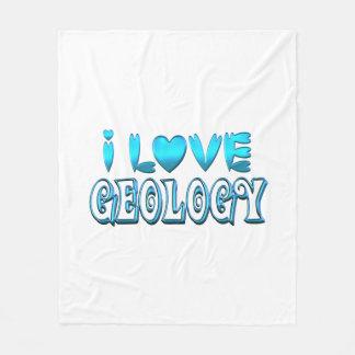 I Love Geology Fleece Blanket