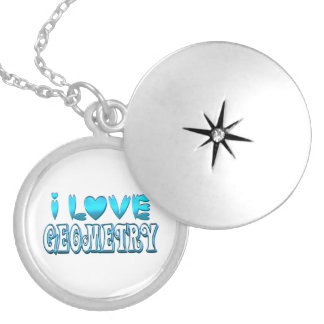 I Love Geometry Locket Necklace