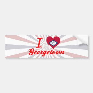 I Love Georgetown, Arkansas Bumper Sticker