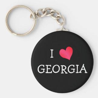 I Love Georgia Key Ring