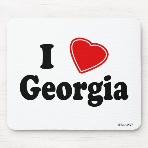 I Love Georgia Mouse Pads