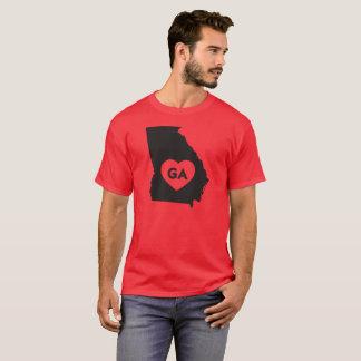 I Love Georgia State Men's Basic Dark T-Shirt
