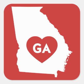 I Love Georgia State Stickers