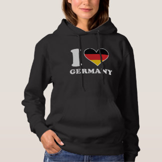 I Love Germany German Flag Heart Hoodie