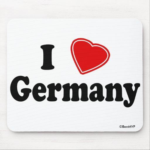 I Love Germany Mousepads
