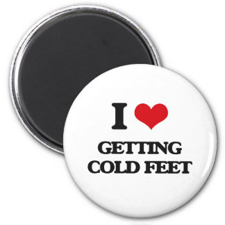 I love Getting Cold Feet 2 Inch Round Magnet