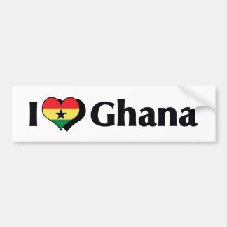 I Love Ghana Flag Bumper Sticker