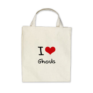 I Love Ghouls Canvas Bags