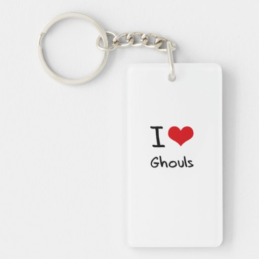I Love Ghouls Rectangle Acrylic Keychain